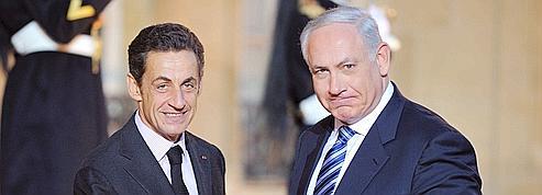 Sarkozy et Nétanyahou <br/>mesurent leur désaccord<br/>