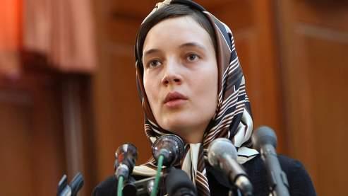 Clotilde Reiss lors de sa comparution devant le tribunal révolutionnaire de Téhéran, le 8 août 2009.
