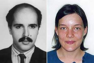 Un montage représentant Ali Vakili Rad et Clotilde Reiss.