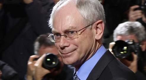 Herman Van Rompuy, mercredi à la Commission européenne à Bruxelles.