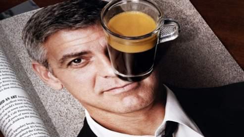 L'égérie publicitaire de Nespresso, l'acteur George Clooney.