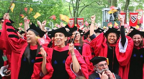 Des étudiants de la prestigieuse université de Harvard, première du palmarès de Shanghaï.