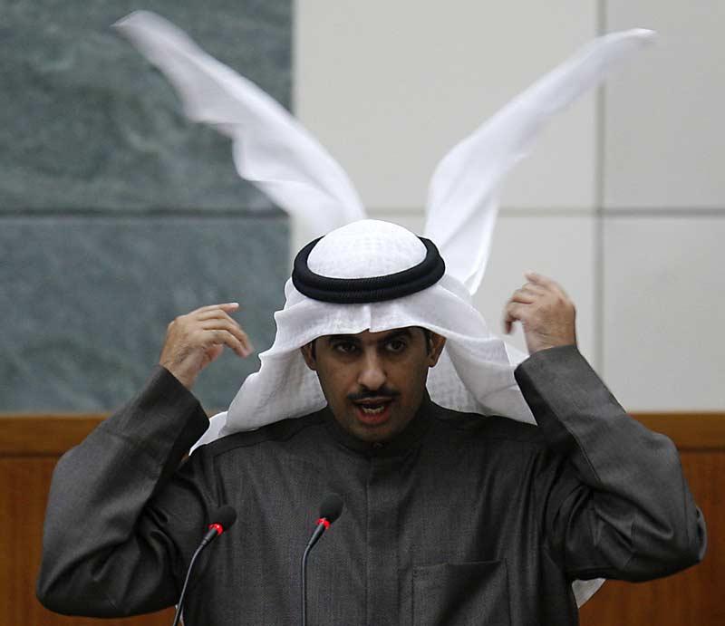 Khaled al-Tahus, député koweitien, le 17 décembre 2009. Le ministre de l'Intérieur, Sheikh Jaber Khaled al-Sabah, était visé par une motion de défiance du Parlement, qui n'a pas abouti.