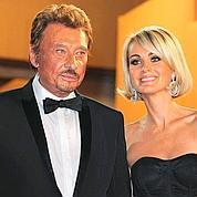 Le chanteur et sa femme Laeticia.