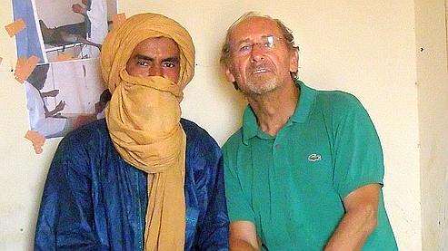 Pierre Camatte (à droite sur la photo) a été enlevé au Mali le 27 novembre dernier.
