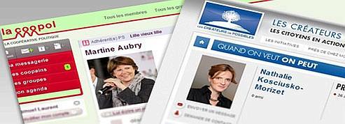 PS et UMP : deux visions <br/>du Web communautaire<br/>