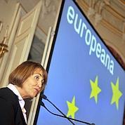 Christine Albanel, ministre de la Culture, au lancement d'Europeana en novembre 2008.