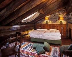Une chambre de l'Hôtellerie de Mascognaz. (DR)