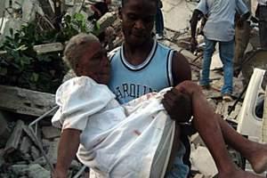 «Des hôpitaux se sont effondrés. Certaines écoles sont remplies de cadavres», a décrit le président René Préval.