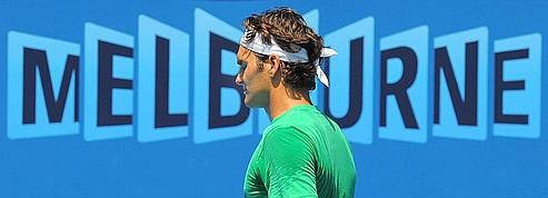Roger Federer à l'entraînement.