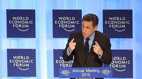 A Davos, Sarkozy fustige les dérives du capitalisme