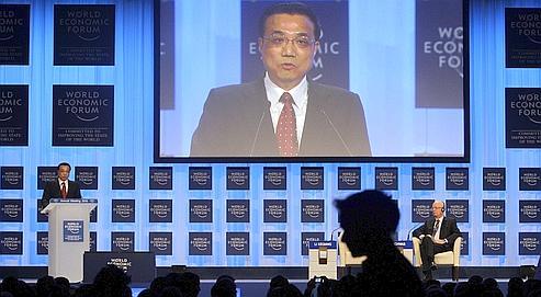 Li Keqiang au forum économique mondial (WEF) de Davos.
