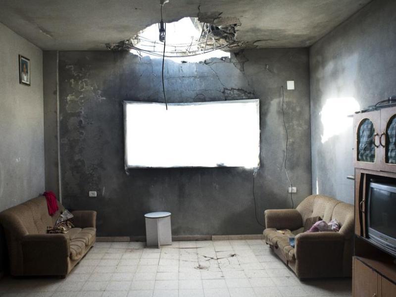 <b>ACTUALITÉ GÉNÉRALE CLICHE – </b>Le premier prix revient à ce cliché d'une maison dévastée de la bande de Gaza réalisé par le photographe suédois Kent Klich.