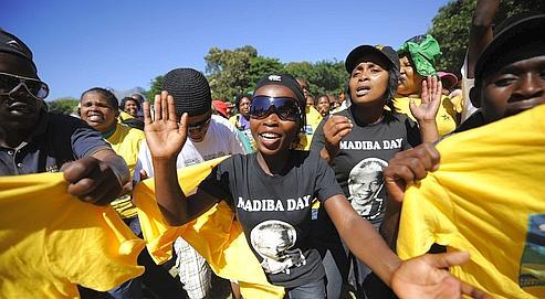 Le Congrès national africain (ANC) fêtait jeudi l'anniversaire dela sortie deprison desonchef historique.