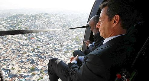 En Haïti, Sarkozy offre l'aide de la France