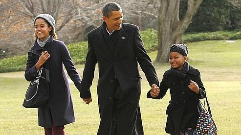 Barack Obama, président et papa poule
