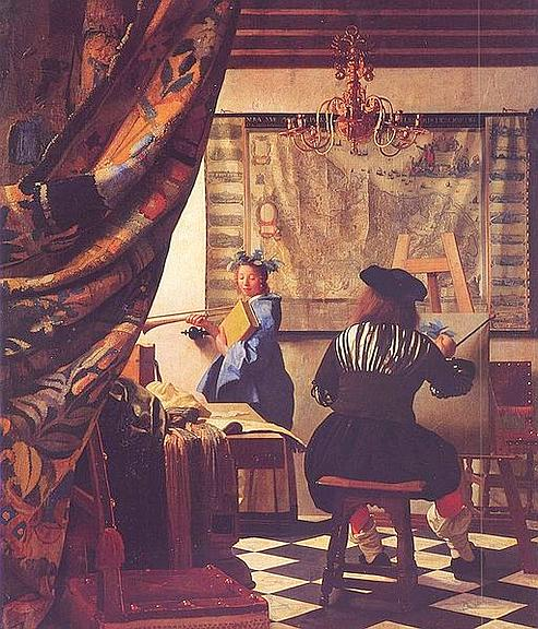 «L'Art de la peinture», de Vermeer, 1665-1668. (The Yorck Project)