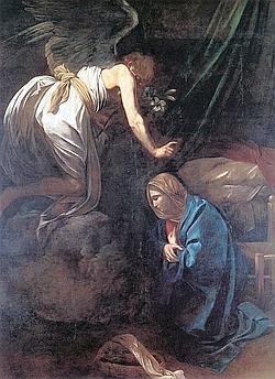 L'Annonciation est l'œuvre la plus mystérieuse du peintre. (Musée de Nancy)