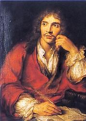 Jean-Baptiste Poquelin, dit Molière, était sujet à des crises d'épilepsie (peinture deCharles-Antoine Coypel).
