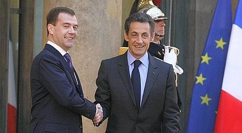 La première visite d'État de Dmitri Medvedev à Paris