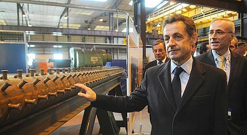 Sarkozy expose sa politique industrielle
