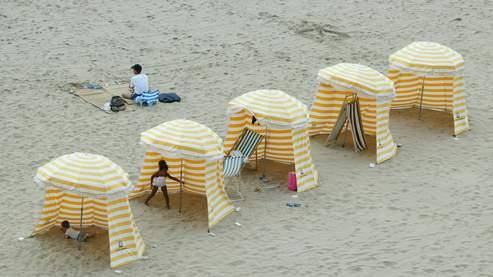 La plage de Royan dans les Landes.