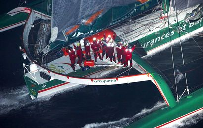 Le Team Groupama 3 fête son record !