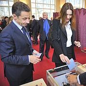 Nicolas Sarkozy et son épouse..