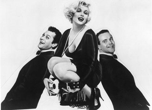 Certains l'aiment chaud avec Tony Curtis, Jack Lemmon et Marilyn Monroe.(Kobal/picture desk)