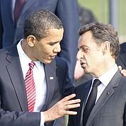 Sarkozy en visite chez Obama