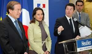 Louis Petiet, Ségolène Royal et Christian Estrosi en décembre 2009.