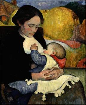 Maternité, 1889, portrait de Marie Henry avec laquelle il aura un enfant.(Collection particulière. Photo collection particulière © Droits Réservés)