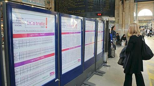 Le troisième mouvement social à la SNCF depuis le début de l'année a débuté hier soir. (AFP)