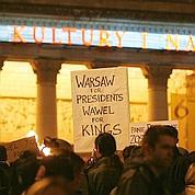 Kaczynski aux côtés des rois de Pologne