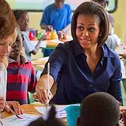 Michelle Obama en visite surprise en Haïti