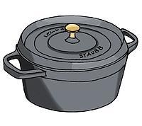 La cocotte Staub (dessin : Angéline)