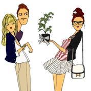 Le plant de tomates (dessin : Angéline)
