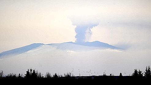 L'éruption de l'l'Eyjafjöll, en Islande.