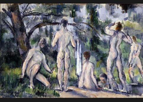 <stro />Cézanne, Les Baigneurs,</strong> Moscou, musée Pouchkine. Confisqués dans la collection d'Ivan Morosov. Réclamés par son héritier.» /></p><br /> <p=