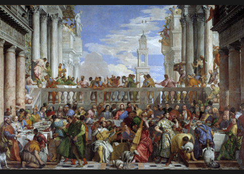 <stro />Véronèse, Les Noces de Cana.</strong> Rapportées à Paris par Bonaparte. Il y a peu de chance que l'oeuvre quitte le Louvre pour retourner à Venise où elle était conservée jusqu'en 1797.» /></p><br /> <p=