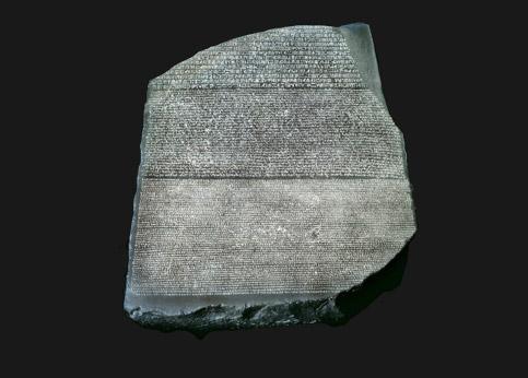 <stro />La pierre de Rosette,</strong> entrée au British Museum en 1802, aujourd'hui réclamée par l'Egypte.» /></p><br /> <p=