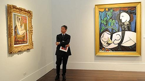 C'est la première fois depuis 1961 que le Picasso «Nu au plateau de sculpteur» (à droite) était exposé au public.
