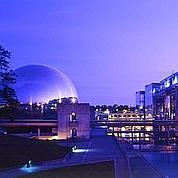 La Cité des sciences et de l'industrie, de nuit © CSI / Arnaud Legrain