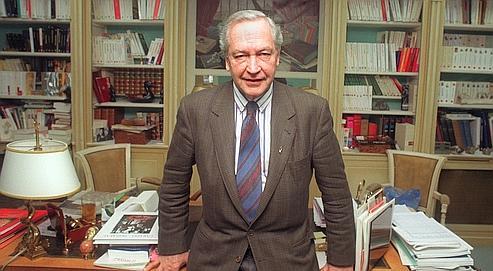 Robert Laffont dans sa maison d'édition, en février 1992.