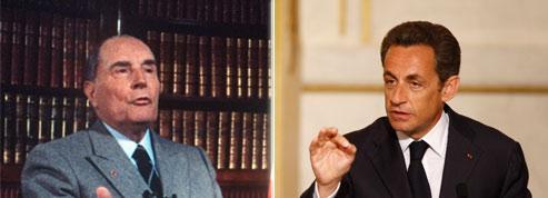 Retraites: Sarkozy dénonce les années Mitterrand<br/>