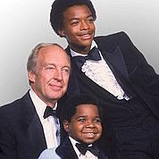 Photo de la famille d'«Arnold», avec son frère «Willy» et Philip Drummond, son père adoptif.