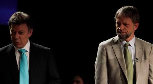 Juan Manuel Santos (à gauche) et Antanas Mockus sont au coude-à-coude dans les sondages.