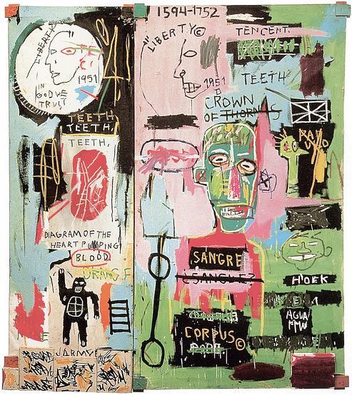 Jean-Michel Basquiat, «In Italian», 1983.