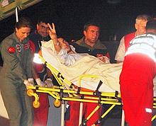 Un militant blessé est débarqué à l'aéroport d'Istanbul.