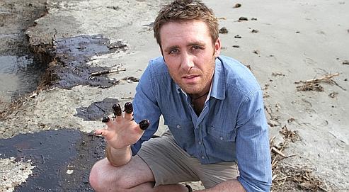 Pour Philippe Cousteau Jr, qui s'est rendu cette semaine à Venice  (en Louisiane), «cette marée noire représente une menace pour notre  sécurité nationale».